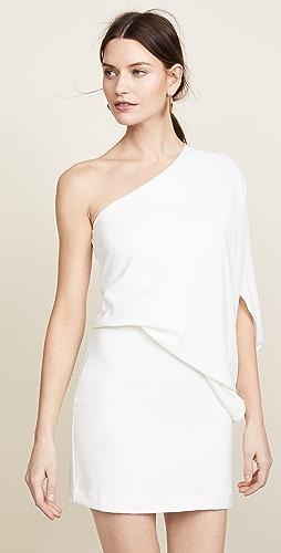 HALSTON - One Shoulder Dress