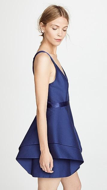 Halston Heritage Dramatic Flounce Skirt Dress
