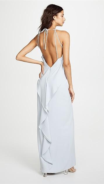 HALSTON High Neck Gown