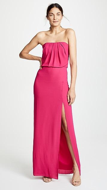 Halston Heritage Strapless Flowy Gown