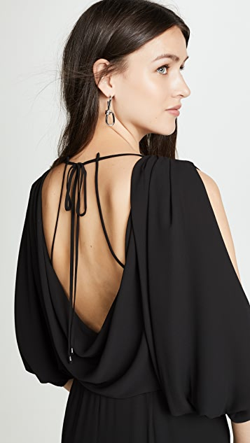 Halston Heritage Cold Shoulder Jumpsuit