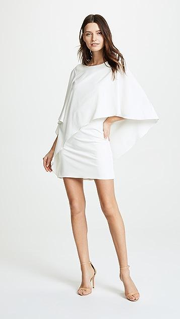 HALSTON 垂褶连衣裙
