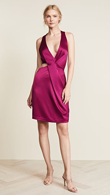 HALSTON Платье с вырезом и американской проймой