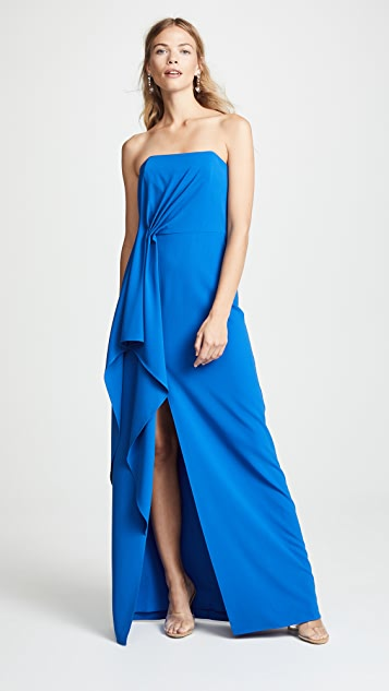 3fc231e74a3 Halston Heritage Strapless Drape Gown | SHOPBOP