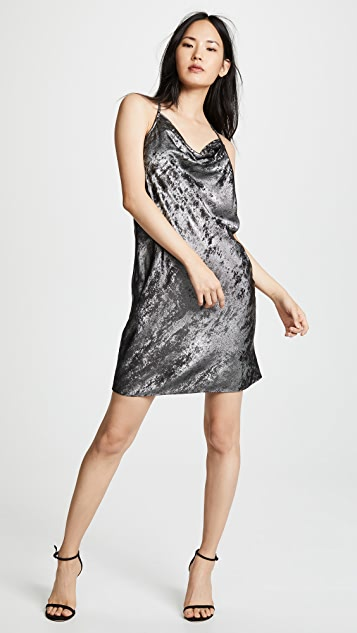 HALSTON Платье-комбинация с воротником-хомутом