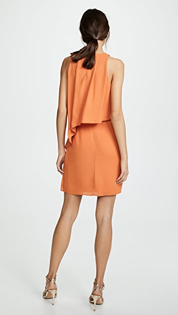 Halston Heritage Sleeveless High Neck Dress