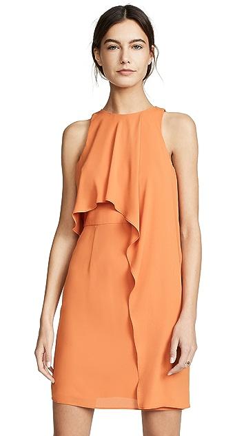 Halston Heritage Платье без рукавов с воротником-стойкой