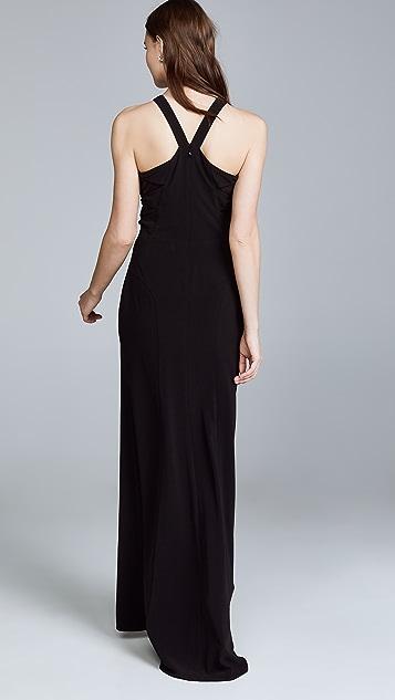 HALSTON Вечернее платье с высокой горловиной
