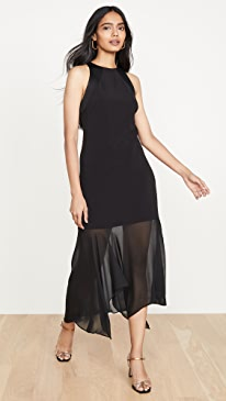 Sleeveless Crepe Georgette Dress