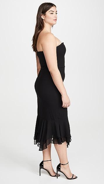 HALSTON Crepe Dress