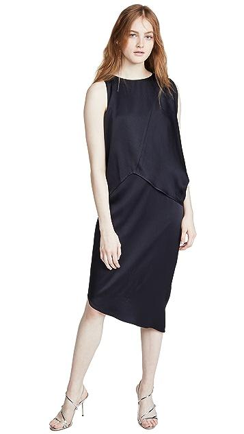 HALSTON Асимметричное платье с драпировкой