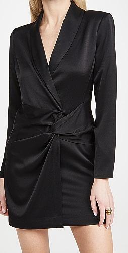 HALSTON - Paris Satin Blazer Dress
