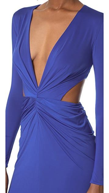 HANEY Side Cut Out Gown