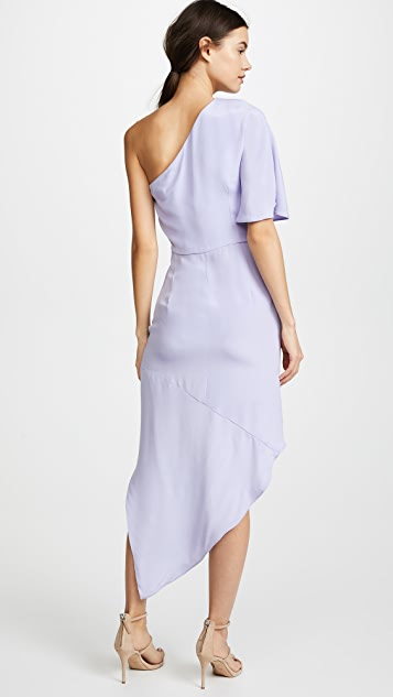HANEY Marta Asymmetrical Wrap Dress