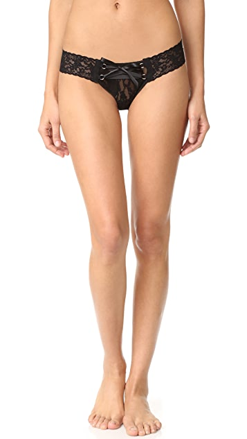 Hanky Panky Lace Up Low Rise Thong
