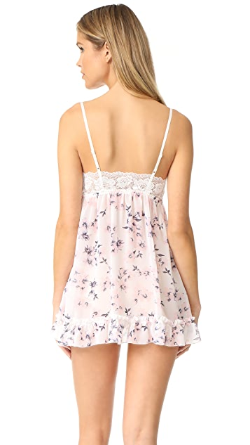 Hanky Panky Floral Chiffon Babydoll with G-String
