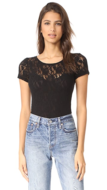Hanky Panky Signature Lace Short Sleeve Bodysuit