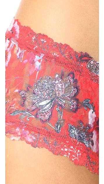 Hanky Panky Fiery Floral Boy Shorts