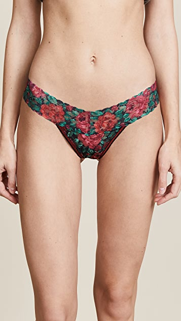 Hanky Panky Roses Are Red Low Rise Thong
