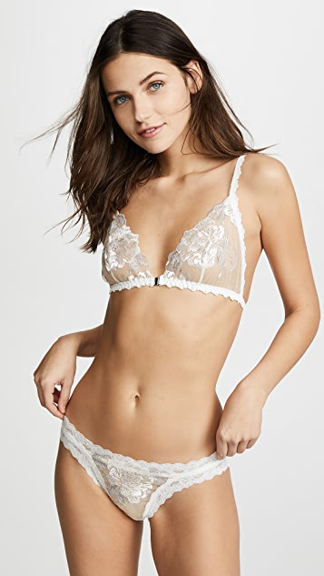 Hanky Panky Charlotte Front Close Bralette - Marshmallow