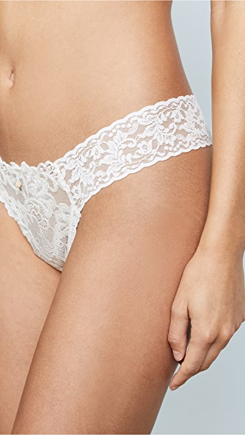 Hanky Panky Porcelain Rose Low Rise Diamond Thong