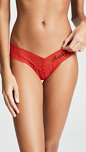 Hanky Panky Days of the Week Low Rise Thong 7 Pack