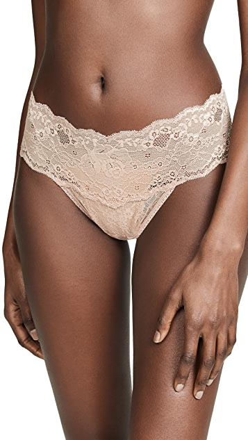 Hanky Panky American Beauty Rose Natural Rise Thong
