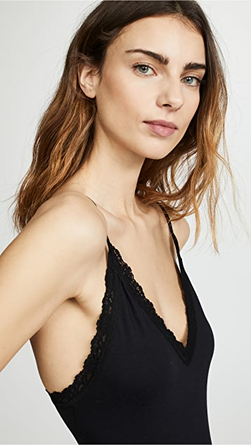 Hanky Panky Cotton with a Conscience Thong Back Bodysuit