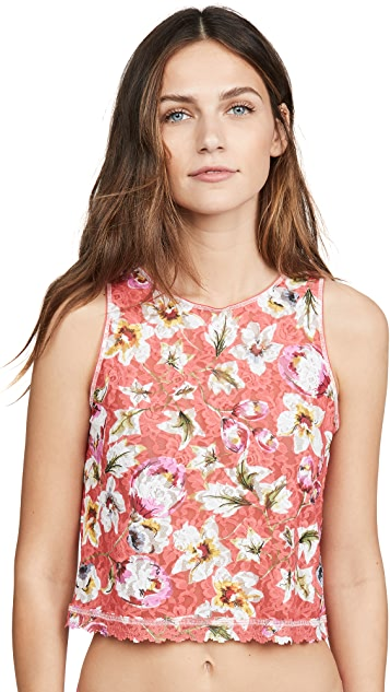 Hanky Panky Coral Floral Cropped Tank