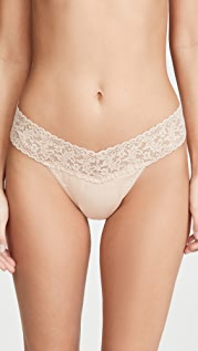 Hanky Panky Cotton with a Conscience Orig Rise Thong