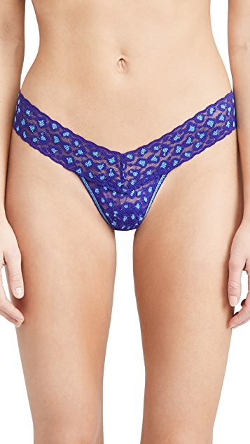 Hanky Panky Cross Dyed Leopard Low Rise Thong