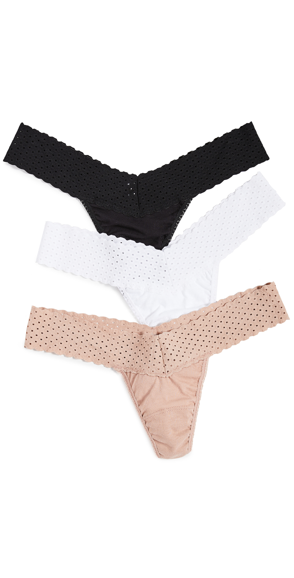 Hanky Panky Eco Cotton Low Rise Thong 3 Pack