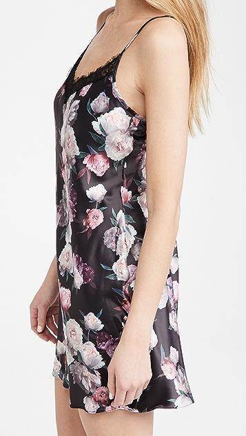 Hanky Panky 缎面玫瑰图案衬裙