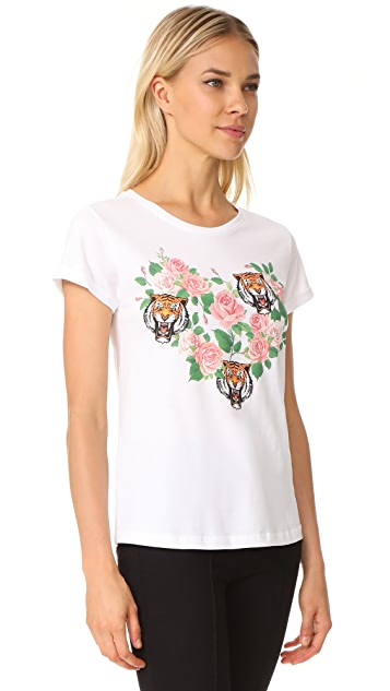 Happiness Heart with Flower & Tiger Tee