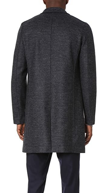 Harris Wharf London Boxy 3 Button Tartan Tweed Coat
