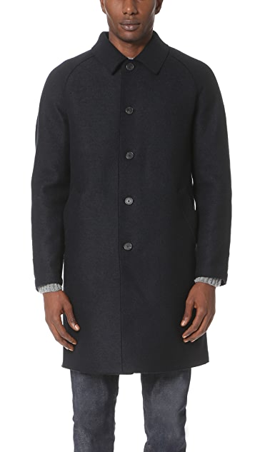 Harris Wharf London Raglan Sleeve Pressed Wool Coat