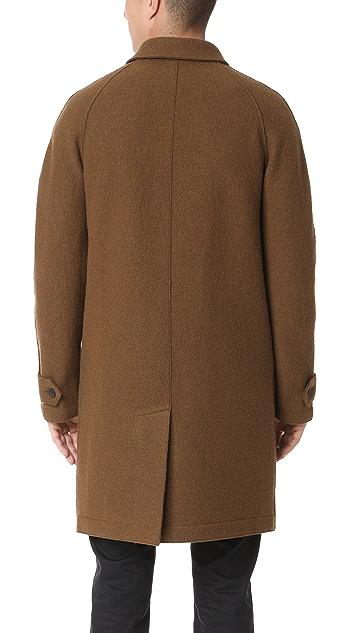 Harris Wharf London Boiled Wool Raglan Coat