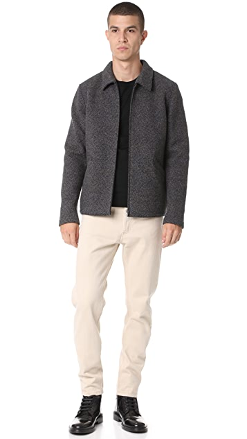 Harris Wharf London Military Felt Aviator Jacket