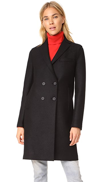 Harris Wharf London Boxy DB Coat