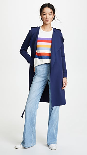 Harris Wharf London Round Neck Trench Coat