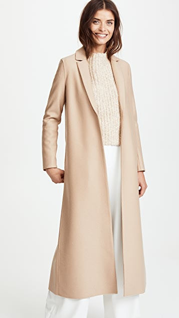 Harris Wharf London Single Breasted Light Wool Coat