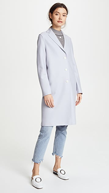 Harris Wharf London Light Wool Overcoat