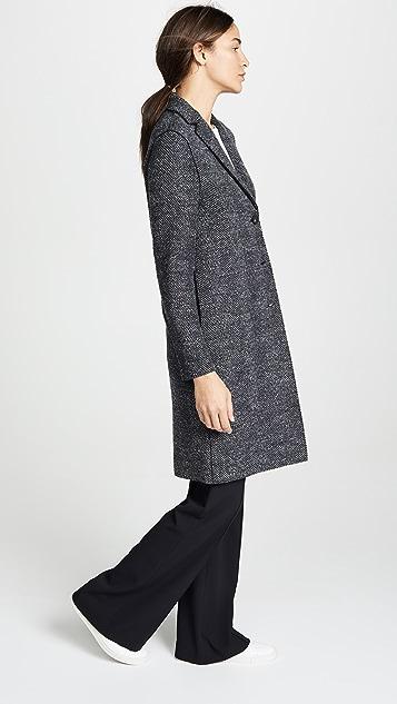 ... Harris Wharf London Herringbone Coat ... 2bbbbd7b3779d
