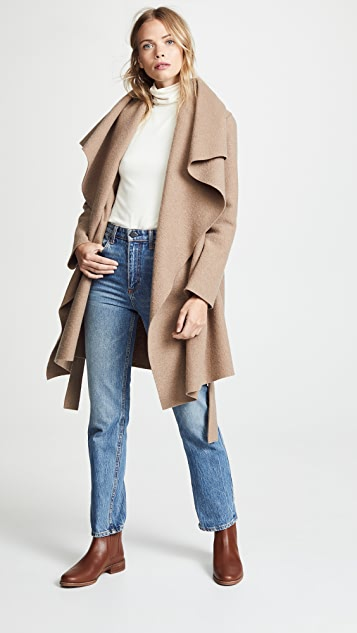 Harris Wharf London Belted Blanket Coat