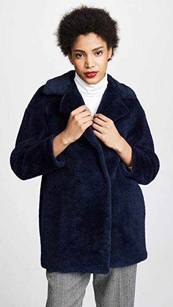 Harris Wharf London Faux Fur Coat