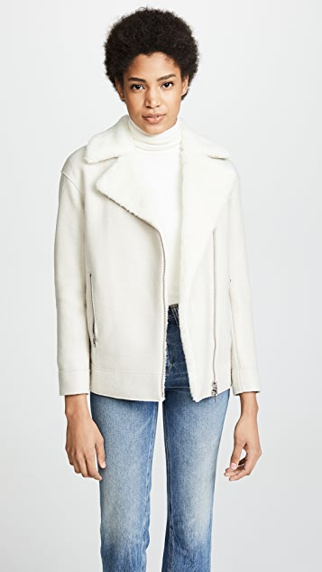 Harris Wharf London Long Biker Jacket