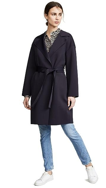 Harris Wharf London Dropped Shoulder Belted Coat