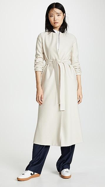 Harris Wharf London Collarless Long Coat