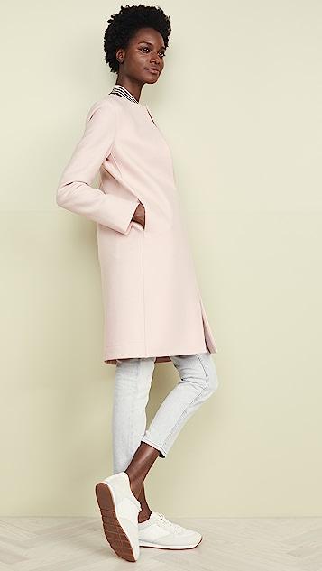 Harris Wharf London Пальто без воротника