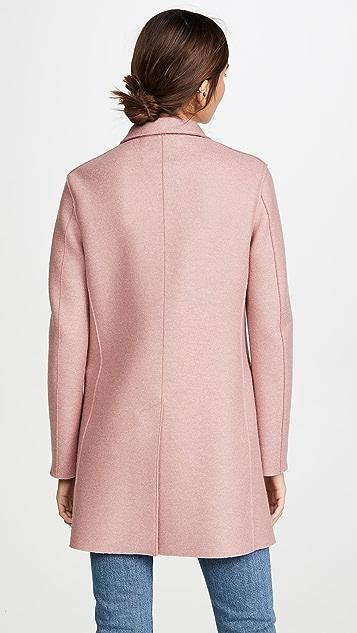 Harris Wharf London Short Double Breasted Coat